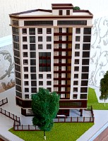Maquette beautiful building's