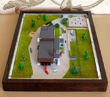 All components of the Gift Scale Model (maquette) are created on the one scale
