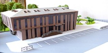 Architectural exibition scale model hitech building (photo 2)