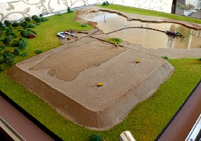 Maquette of the hydro sand-wash for exhibition