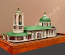 The Scale model of the Trinity Church on Sparrow hills in Moscow