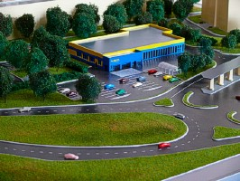 Realistic asphalt on the maquette