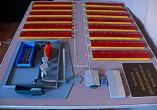 Maquette of the heating of a poultry farm for exhibition