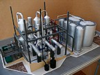 Scale model of complex waste processing factory Lesaffre Voronegskiye yeast (photo 16)