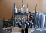 Scale model of complex waste processing factory Lesaffre Voronegskiye yeast (photo 2)