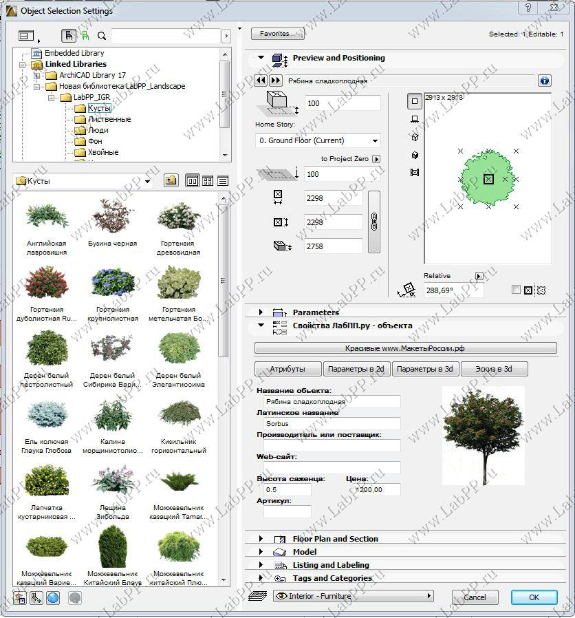Условные обозначения деревьев в ландшафтном дизайне 106